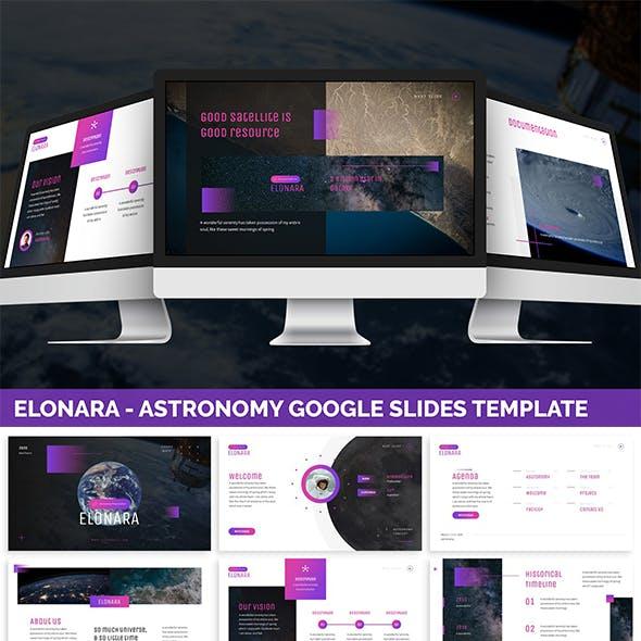 Elonara - Astronomy Google Slides Template