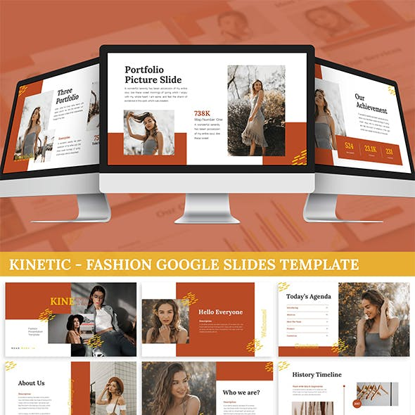 Kinetic - Fashion Google Slides Template