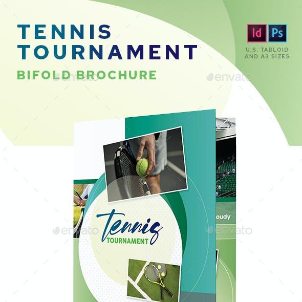 Tennis Tournament Bifold Brochure