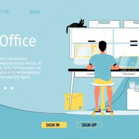 Home Office Remote Job Occupation Landing Page