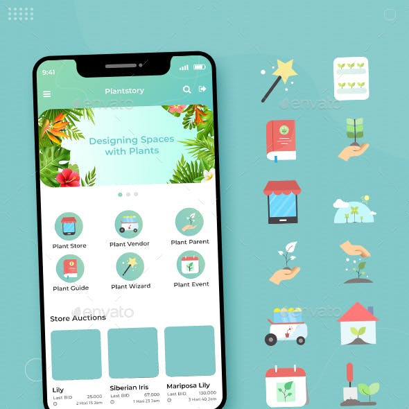 PlantStory - Icon Set for Plant Business