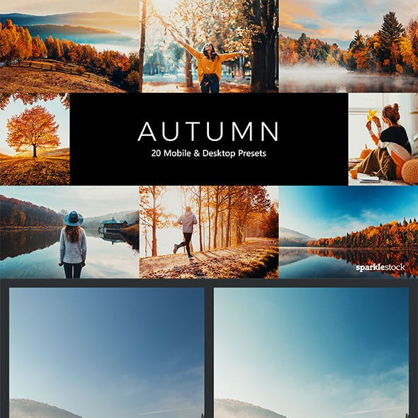 20 Autumn Lightroom Presets & LUTs
