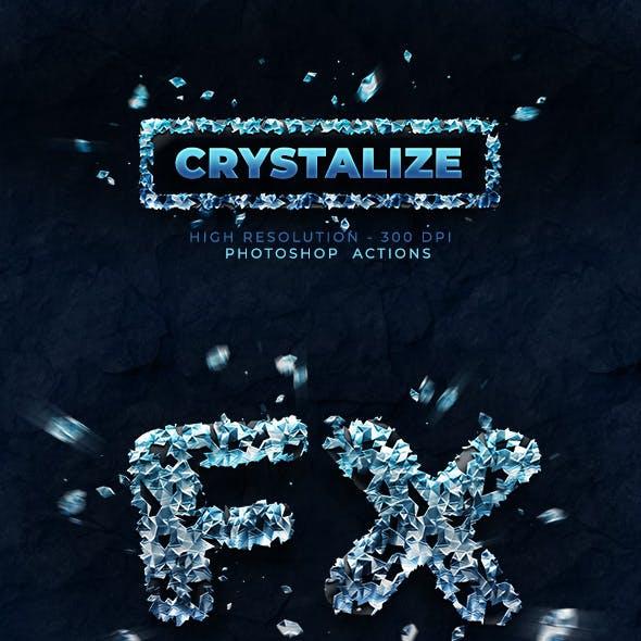 Crystalize - Photoshop Action - 300 DPI