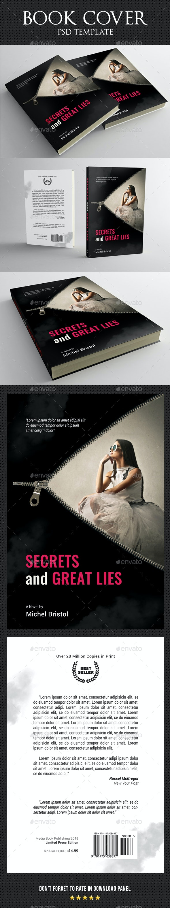 Book Cover Template 77 - Miscellaneous Print Templates