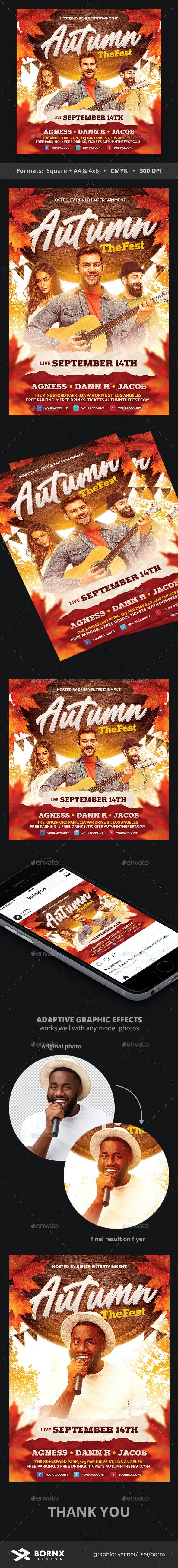 Autumn Flyer - Events Flyers