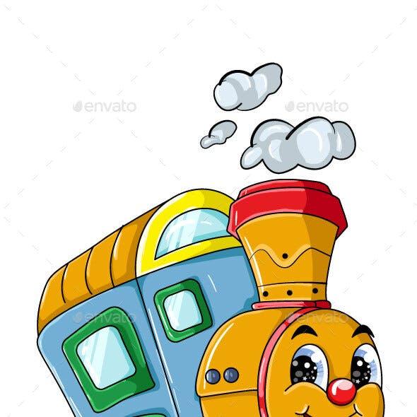Train Cartoon Character