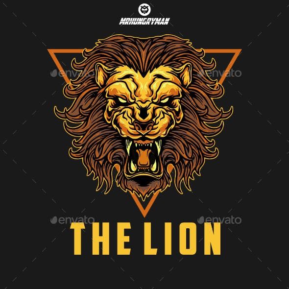 Angry Lion - Logo Template