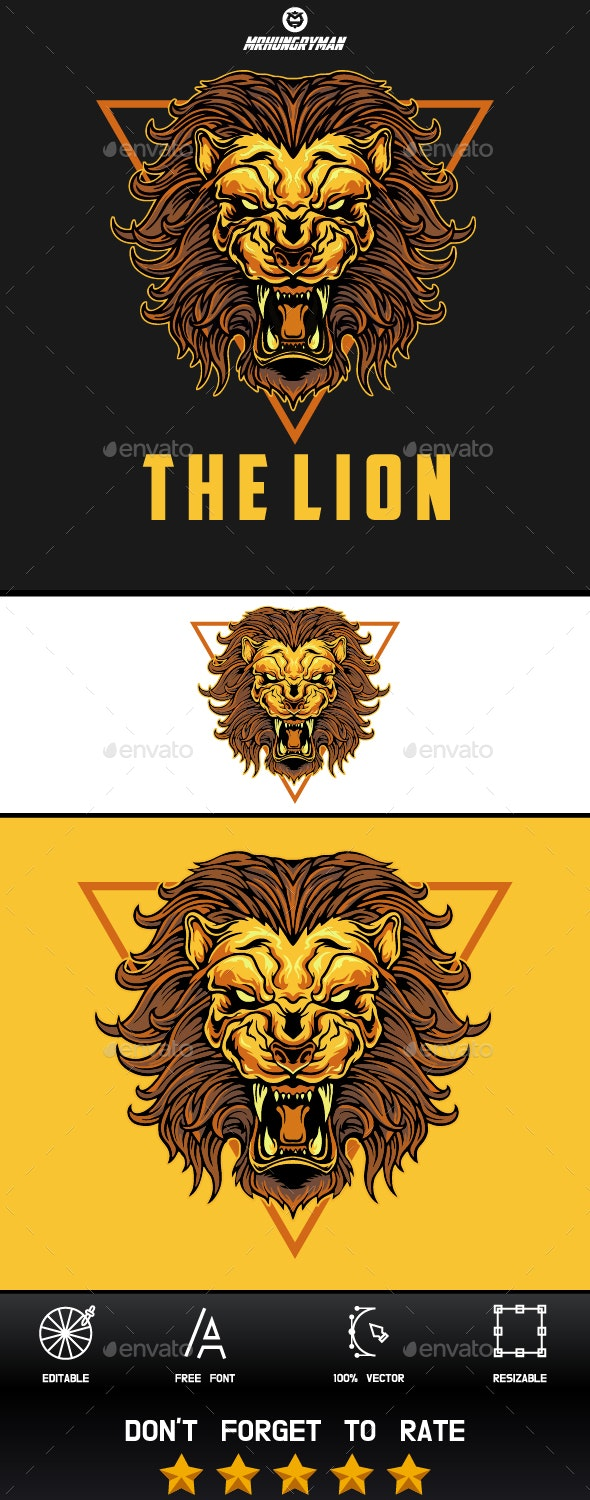 Angry Lion - Logo Template - Abstract Logo Templates
