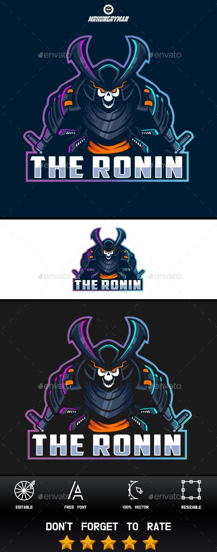 Samurai The Death Ronin - Humans Logo Templates