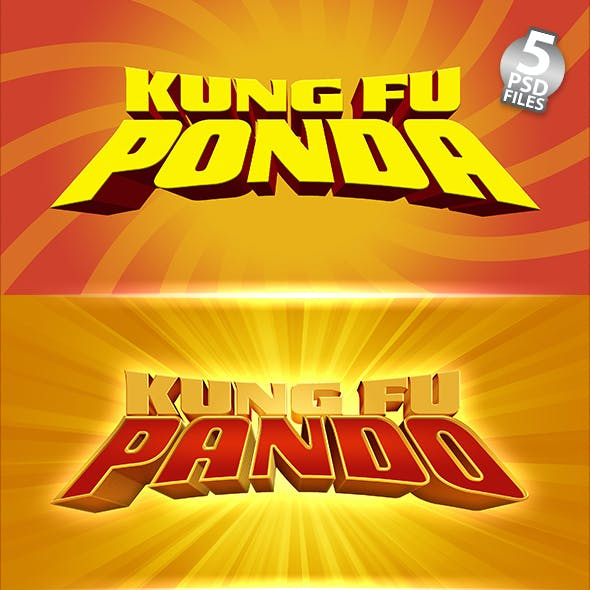 KUNG FU'S PANDA | Text-Effects/Mockups | Template-Package