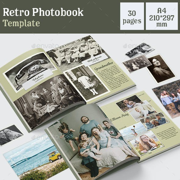 Retro Photo Book Template