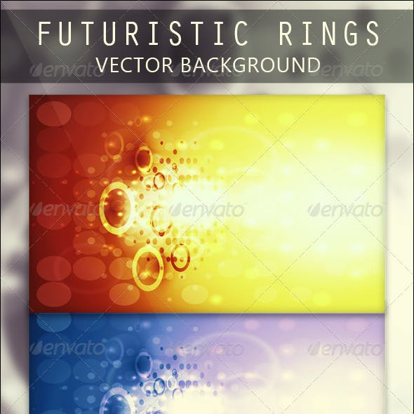 Futuristic Rings Vector Background