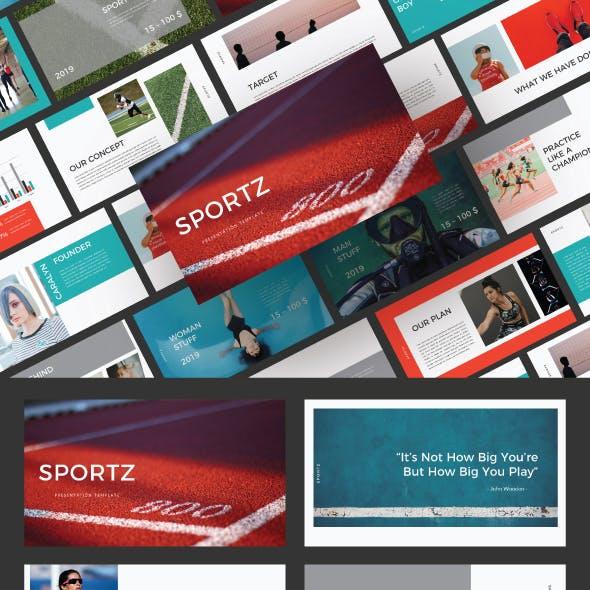 Sportz Google Slide Template