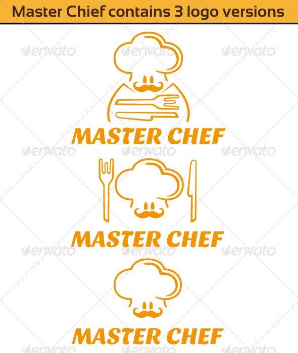 Master Chief Logo (Contains 3 version) - Food Logo Templates