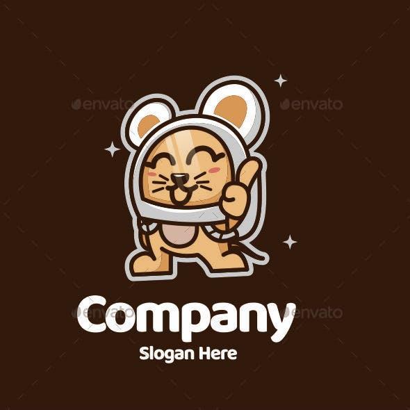 Mousetronaut Logo Mascot