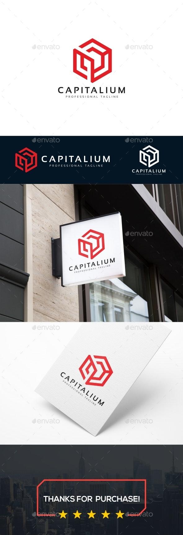 Capital Cube Logo - Abstract Logo Templates
