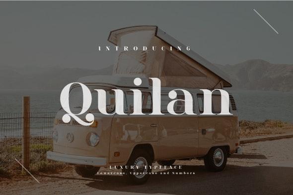 Quilan - Serif Fonts