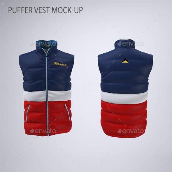 Puffer Vest or Gilet Jacket Mock-up