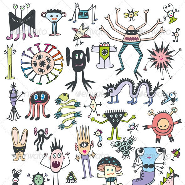 Funny Cute Monsters