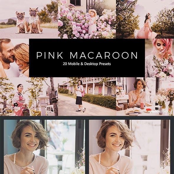 20 Pink Macaroon Lightroom Presets & LUTs