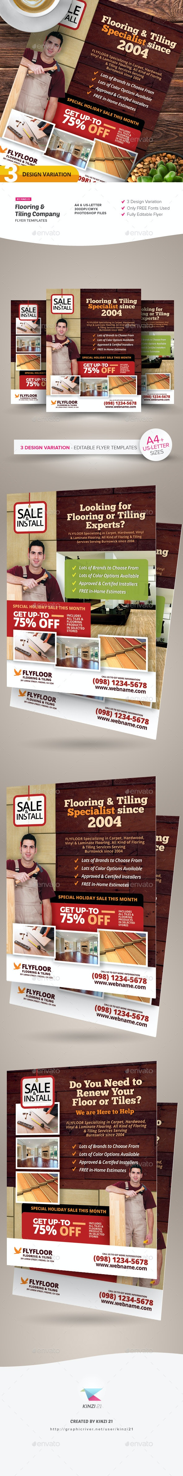 Flooring & Tiling Company Flyer Templates - Corporate Flyers