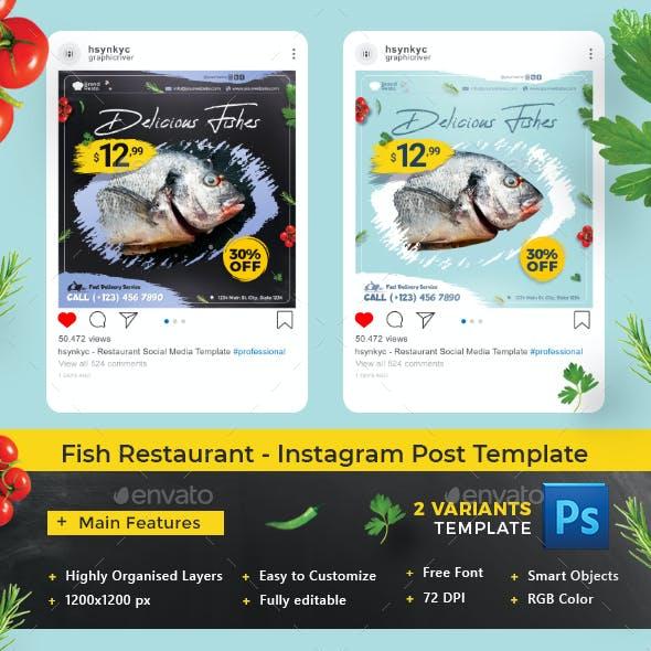 Fish Restaurant - Instagram Post Template