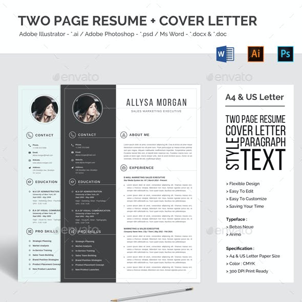 Two Page Resume CV