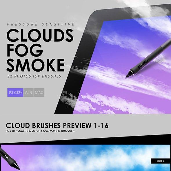 Clouds & Fog & Smoke Photoshop Brushes