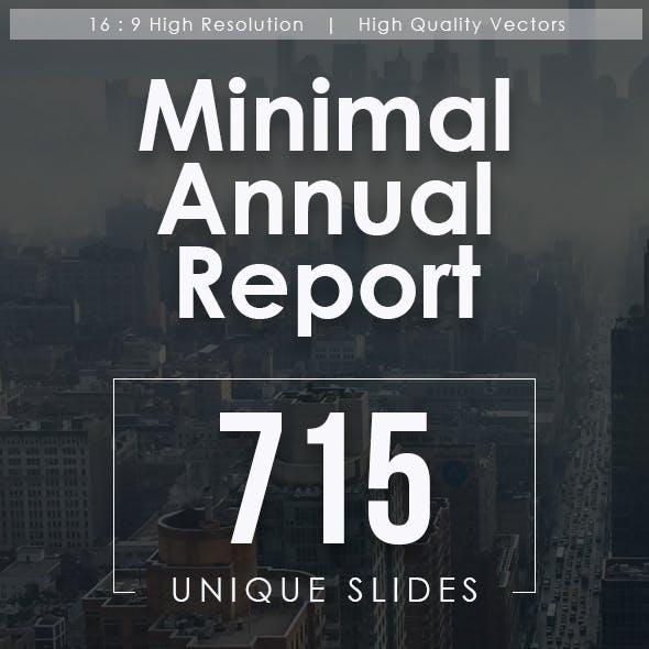 Minimal Annual Report Powerpoint Templates Bundle