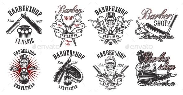 Set of Illustration for Barbershop - Miscellaneous Vectors