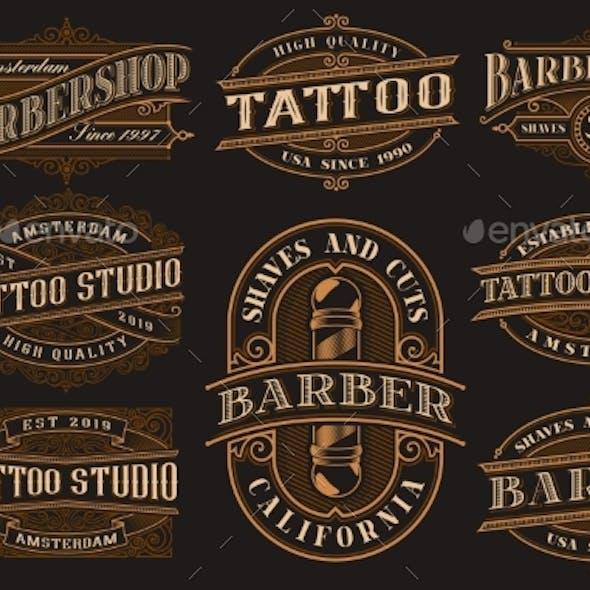 Big Bundle of Vintage Logo Templates for the