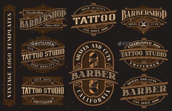 Big Bundle of Vintage Logo Templates for the - Miscellaneous Vectors