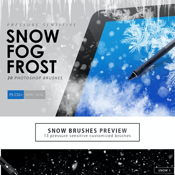 Snow & Frost Photoshop Brushes