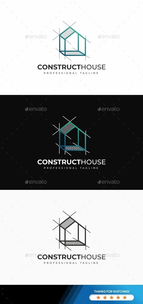 Construct House Logo - Buildings Logo Templates