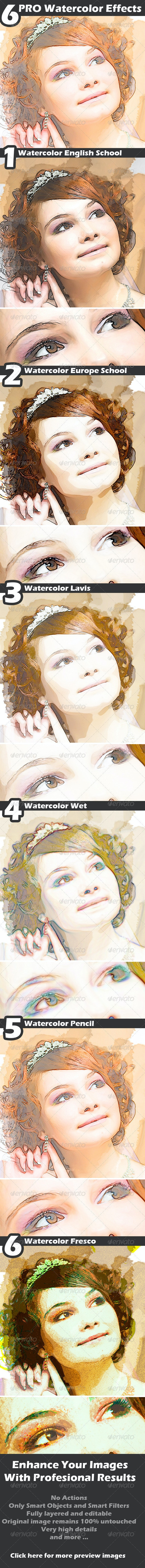 Watercolor Effects - Photo Templates Graphics