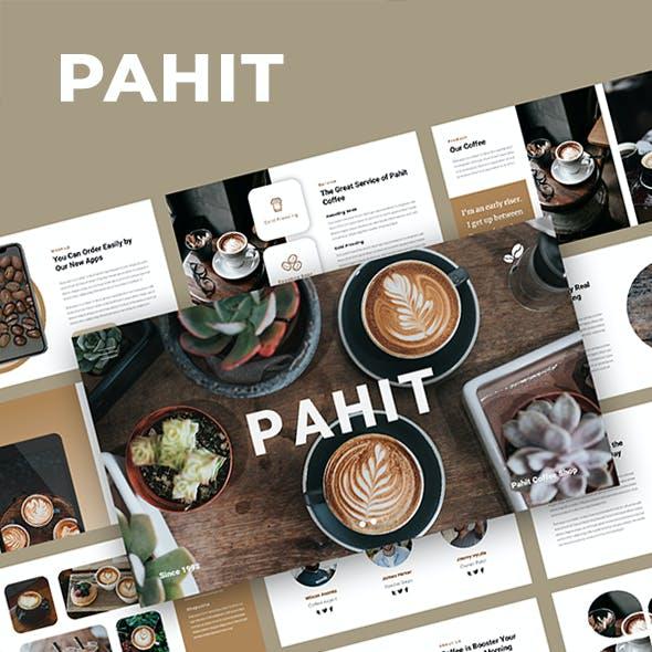 Pahit - Coffee Shop Google Slides Template