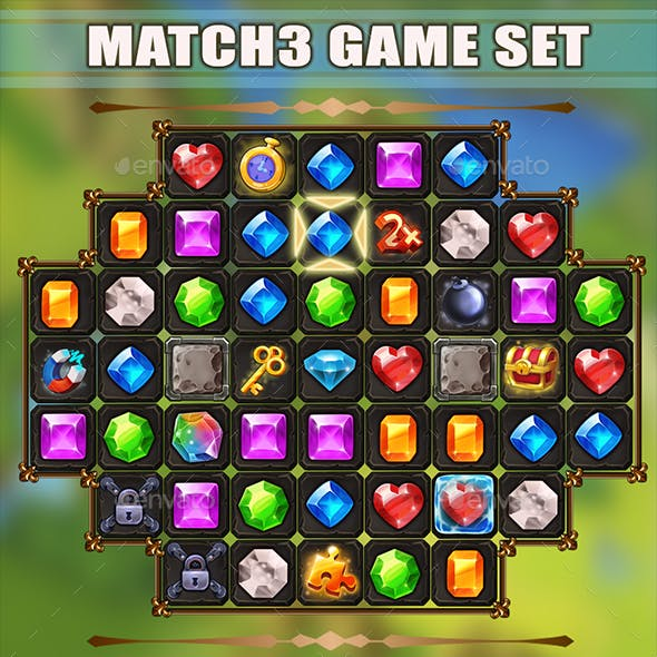Match3 Game Set - Jewelry Style