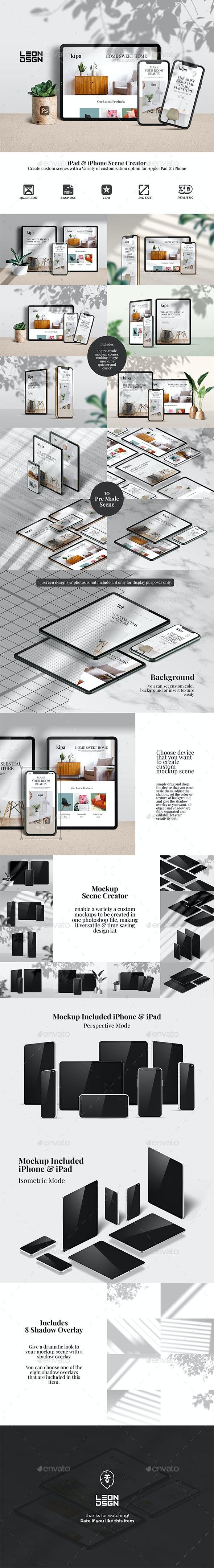 Tablet & Phone - Mockup Screen Creator - Displays Product Mock-Ups