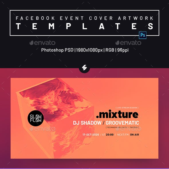 Electronic Music Session 40 - Facebook Event Cover Templates