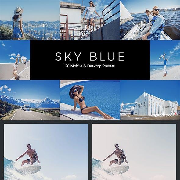 20 Sky Blue Lightroom Presets & LUTs
