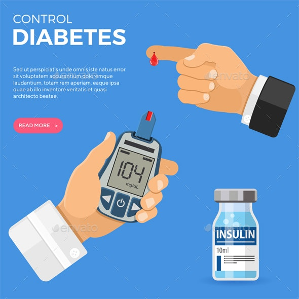 Blood Glucose Meter in Hand - Health/Medicine Conceptual