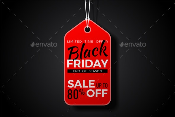 Black Friday Sale Tag - Retail Commercial / Shopping