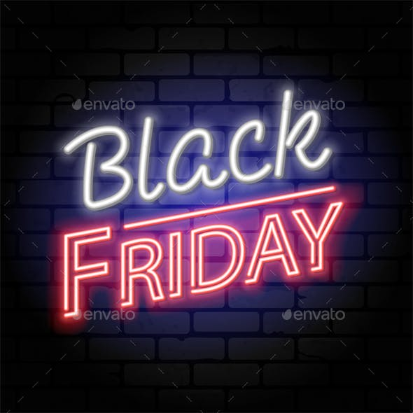 Black Friday Sale Neon Signboard