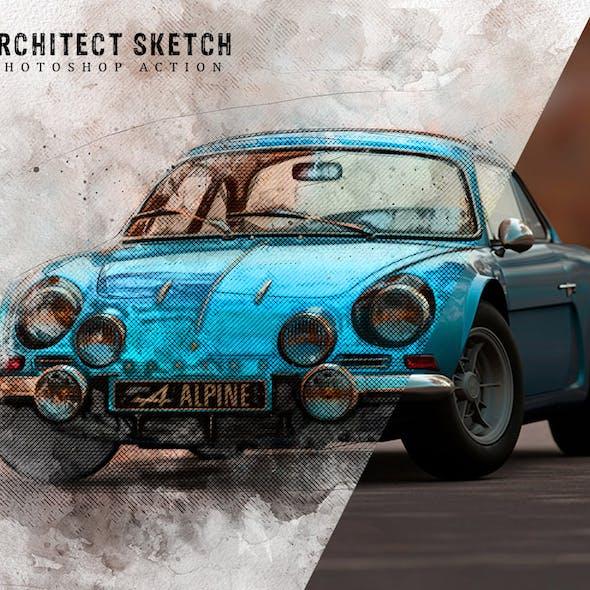 Architect Sketch Photoshop Action