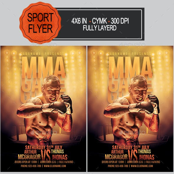 MMA Game Flyer