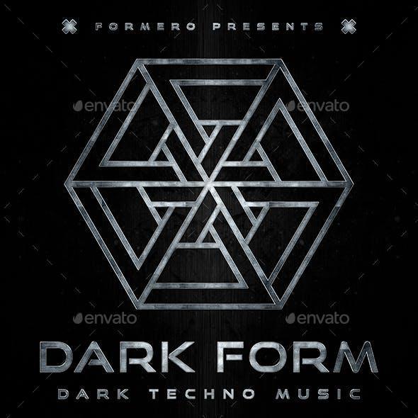 Dark Form Dark Techno Music Album Cover Template