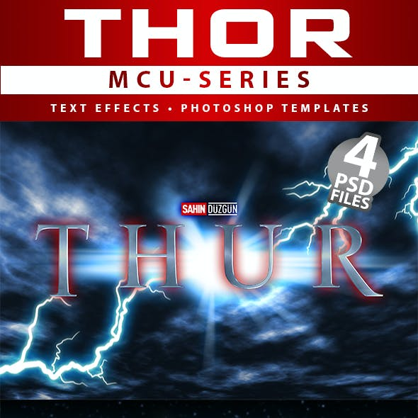 THOR - MCU-Film Series   Text-Effects/Mockups   Template-Package