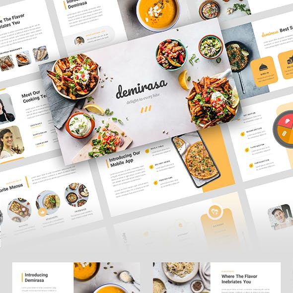 Demirasa – Food and Restaurant Google Slides Template