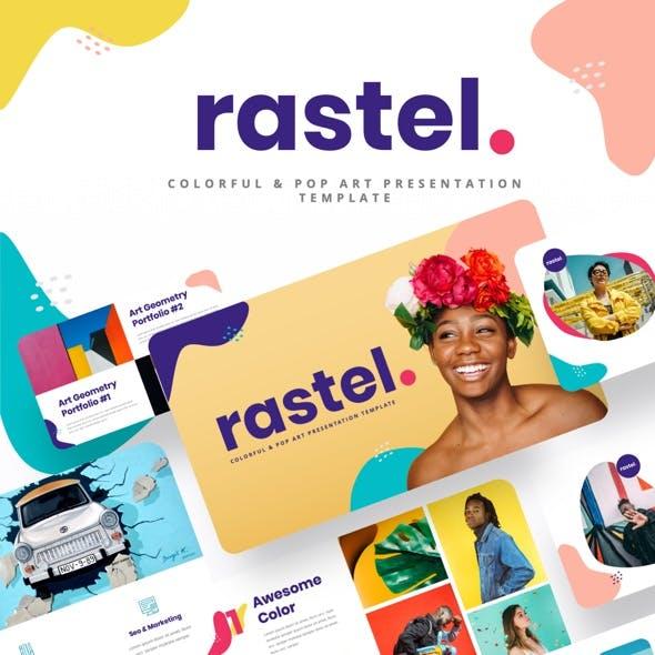 RASTEL - Colorful & Pop Art Powerpoint Template