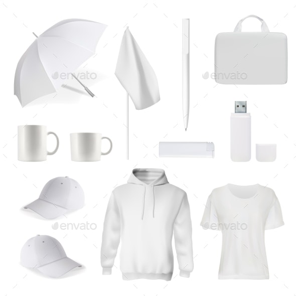 Corporate Branding Clothes Accessory Item Mockup - Concepts Business